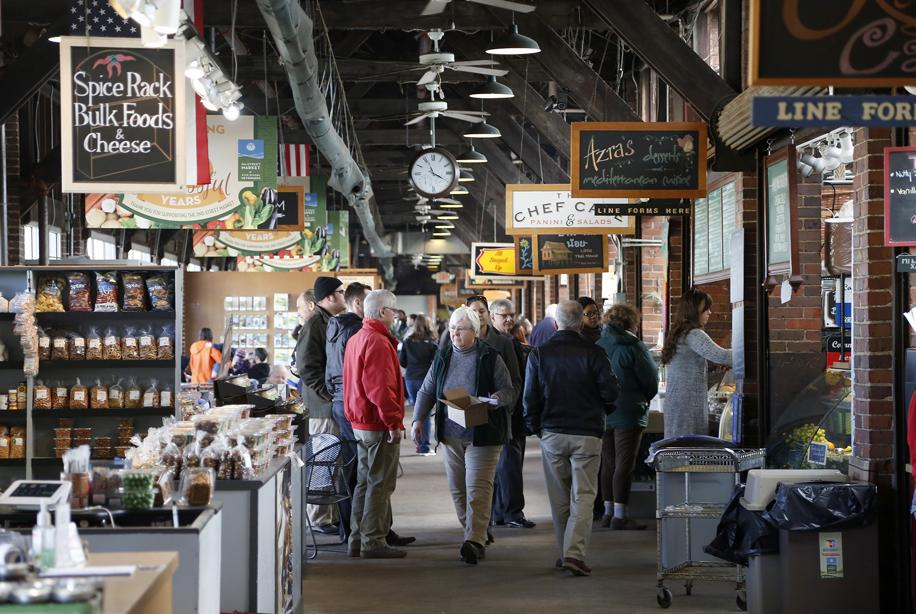 people shopping and walking at 2nd Street Market in Dayton, Ohio