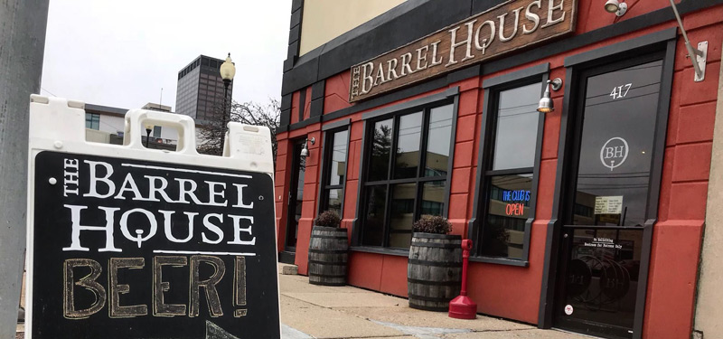 outside of Barrel House in Dayton, Ohio