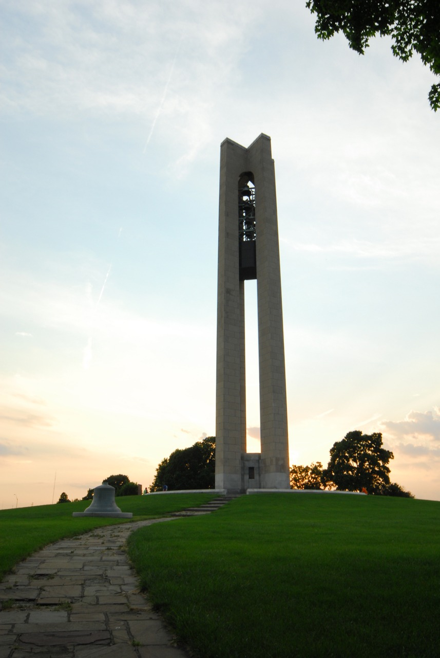bell tower at Carillon Park in Dayton, Ohio