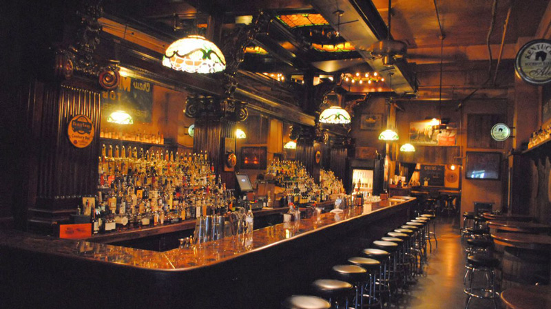 inside of Century Bar in Dayton, Ohio