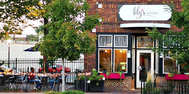The exterior of Lily's Bistro in Dayton, Ohio