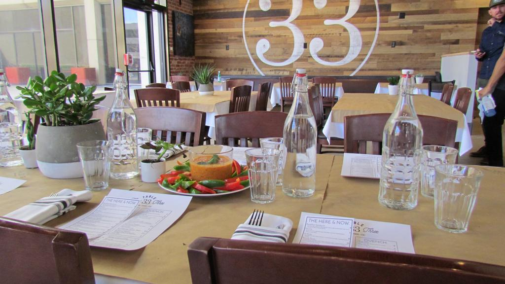 table set at Table 33, a restaurant in Dayton, Ohio